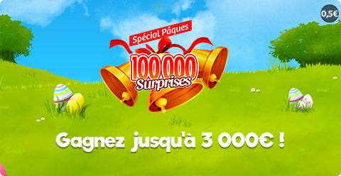 Fiche Jeu 100 000 surprises Paques