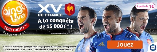 Bingo XV de France : jouez maintenant
