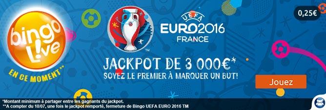 Bingo UEFA EURO 2016 : jouez maintenant