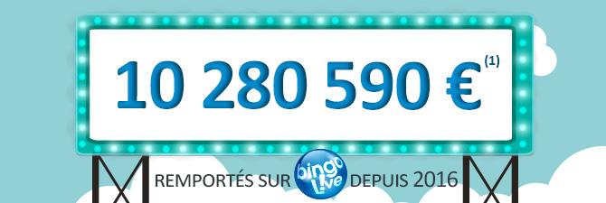 Bingo : nombre de gagnants 2016