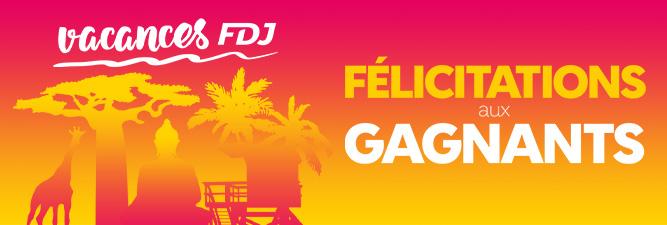 Félicitations aux gagnants du jeu promotionnel vacances FDJ
