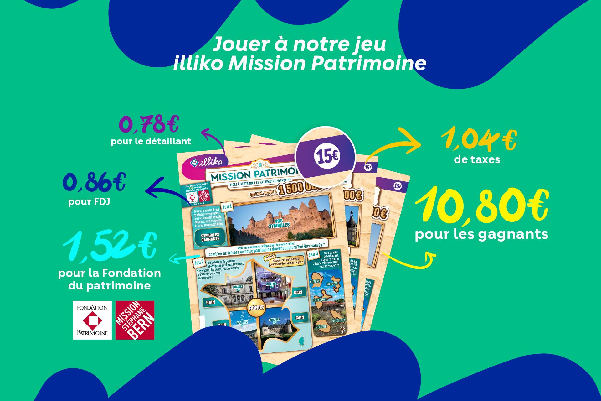 Découvrez l'offre de grattage illiko Patrimoine sur FDJ.fr