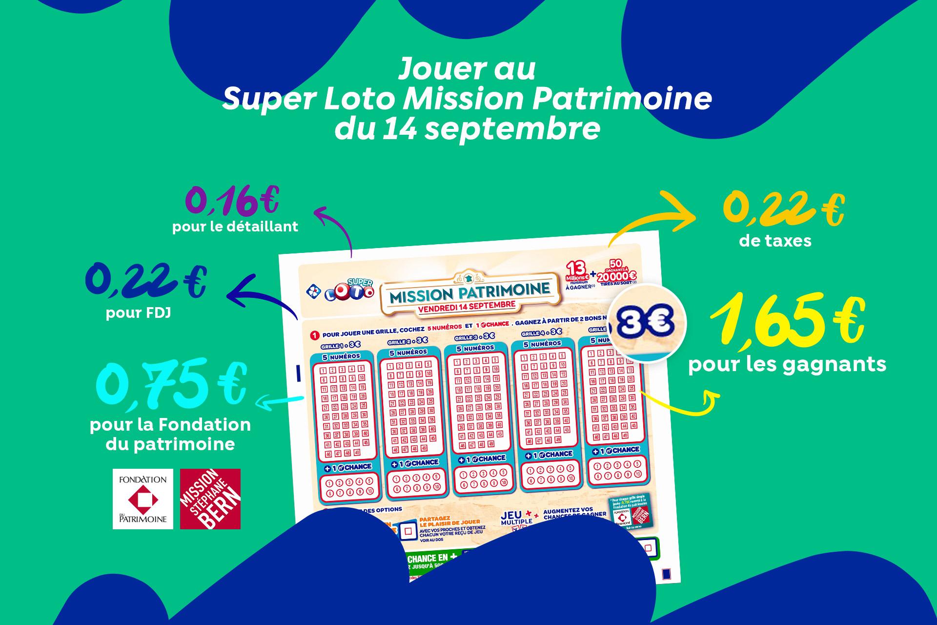 Découvrez l'offre de tirage Loto Patrimoine sur FDJ.fr