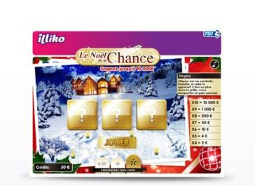 Visuel de l'applet de jeu Le Noël de la Chance