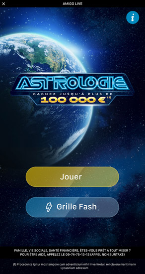 Bulletin Astrologie Application FDJ 1