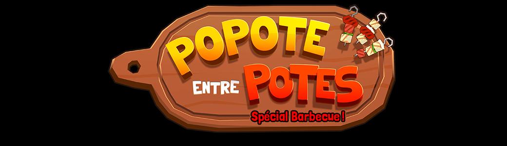 Popote entre potes barbecue | Logo