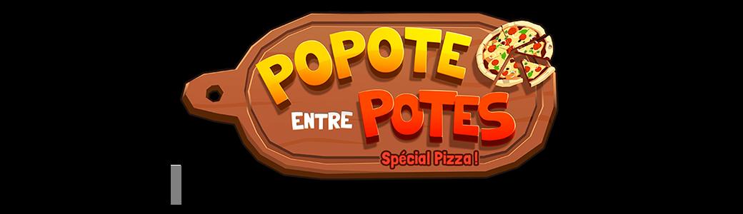 Popote entre potes pizza | Logo