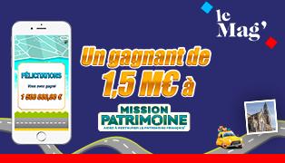 1,5 million d'euros gagnés à illiko Mission Patrimoine